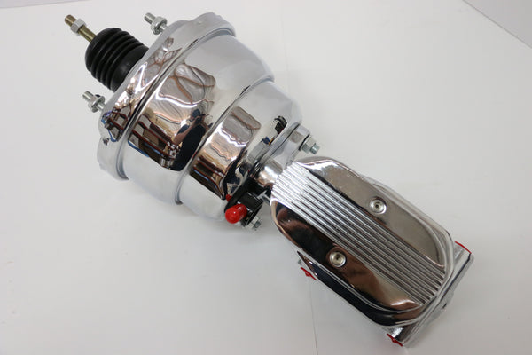 "7"" Chrome Brake Booster With Finned Master Cylinder"