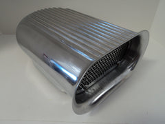 Finned Polished Aluminum Hood Scoop Single 4 bbl.