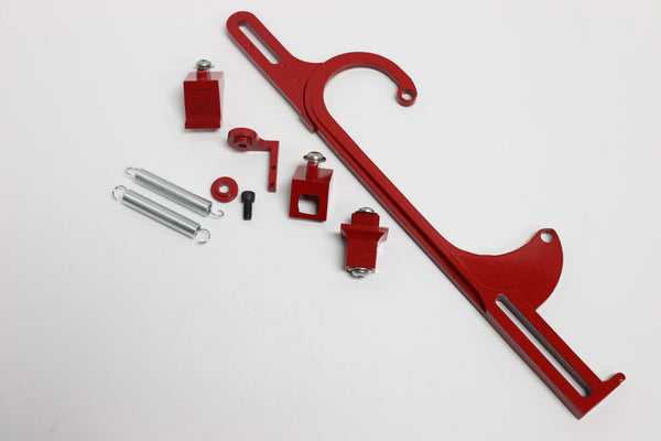 Red Aluminum Throttle Cable Bracket For Holley 4150/4160