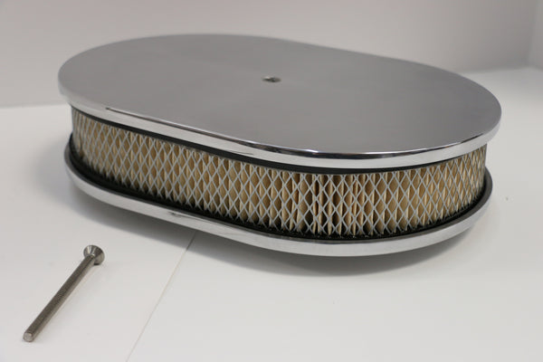 "12"" Smooth Polished Aluminum Air Cleaner"