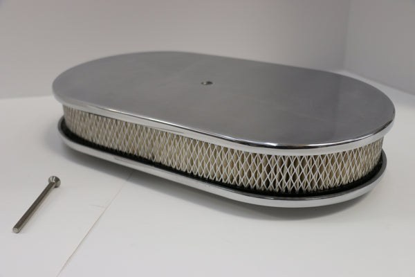 "15"" Smooth Polished Aluminum Air Cleaner"