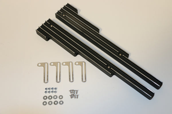 Black Tall Finned Aluminum Linear Wire Looms