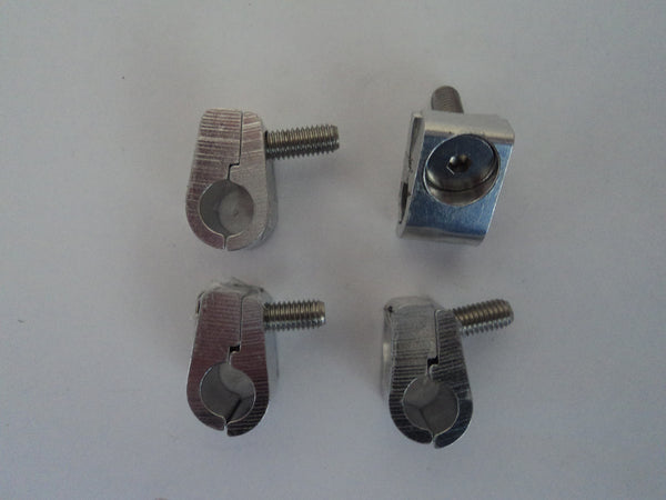 "Aluminum 5/16"" Hose/Wire Clamps (Set of 4)"