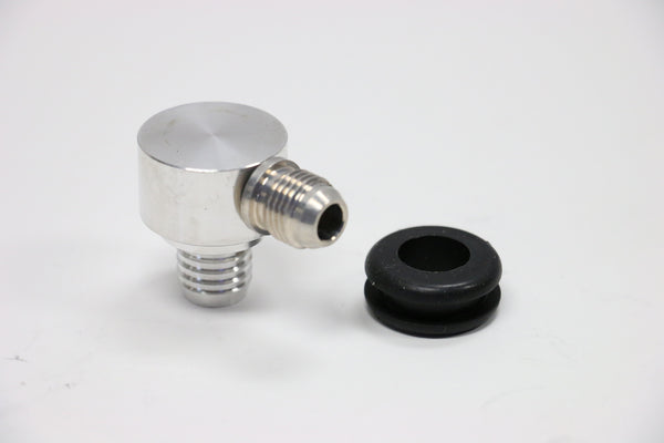Billet Satin Aluminum Universal Brake Booster Check Valve