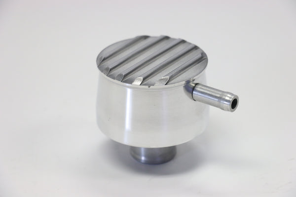 Round Finned Polished Aluminum PCV Valve