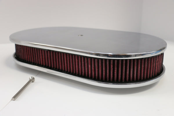 "15"" Smooth Polished Aluminum Air Cleaner Washable"