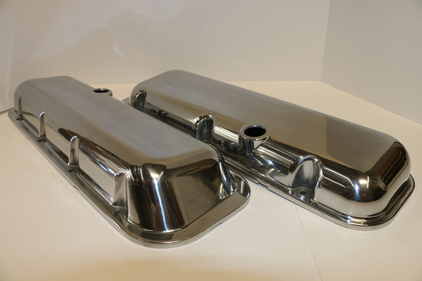 Big Block Chevy Smooth Polished Aluminum Valve Covers - Short