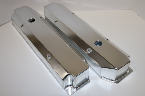 Big Block Mopar Fabricated Clear Anodized Aluminum Valve Covers