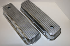 Big Block Chevy Finned Polished Aluminum Valve Covers - Tall