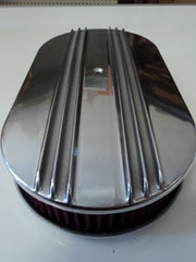 "15"" Half Finned Polished Aluminum Washable Air Cleaner"