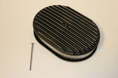 "12"" Black Full Finned Aluminum Air Cleaner"