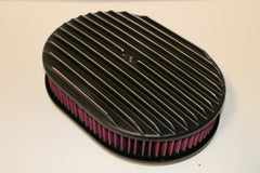 "12"" Black Full Finned Aluminum Air Cleaner Washable"
