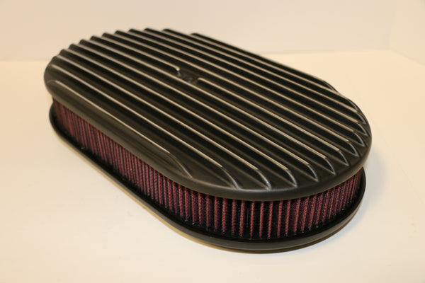 "15"" Black Full Finned Aluminum Air Cleaner Washable"