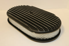 "15"" Black Full Finned Aluminum Air Cleaner"