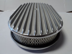 "15"" Full Finned Polished Aluminum Air Cleaner"