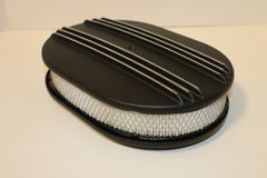 "12"" Black Half Finned Aluminum Air Cleaner"