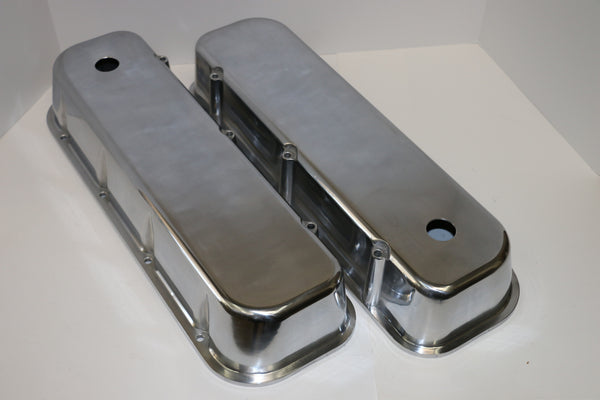 Big Block Chevy Smooth Polished Aluminum Valve Covers - Tall