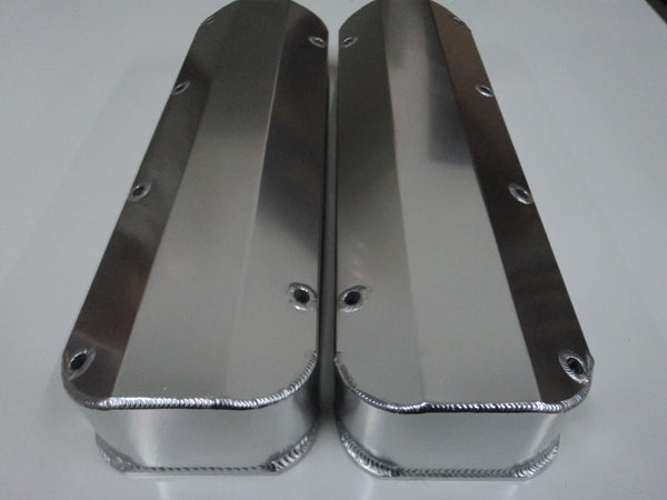 Big Block Ford Clear Anodized Aluminum Valve Covers - No Holes