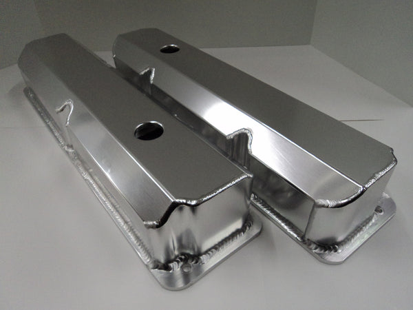 Ford FE Fabricated Clear Anodized Aluminum Valve Cover