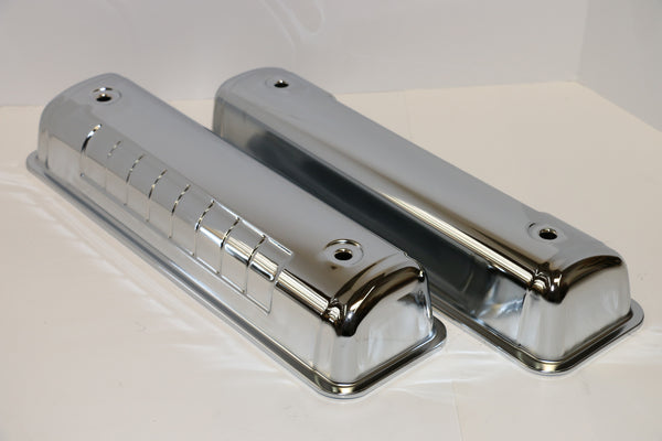 Ford Y-Block Chrome Steel Valve Covers