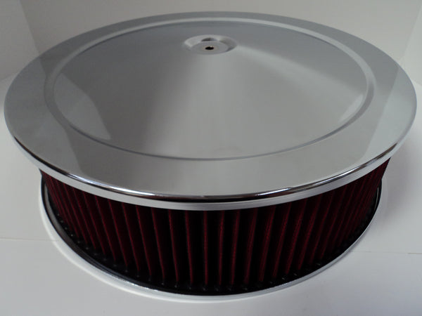 14 X 4 Chrome Air Cleaner Recessed Base Washable