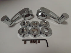 Chrome Interior Window Cranks 3""