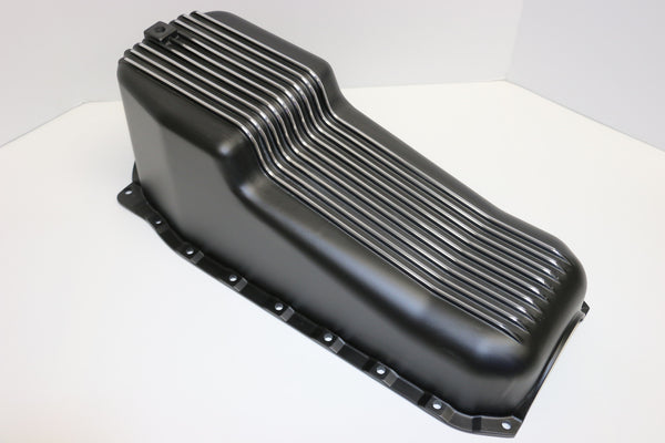SB Chevy Black Aluminum Oil Pan 86-Newer