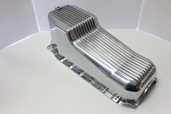 SB Chevy Polished Aluminum Oil Pan 86-Newer