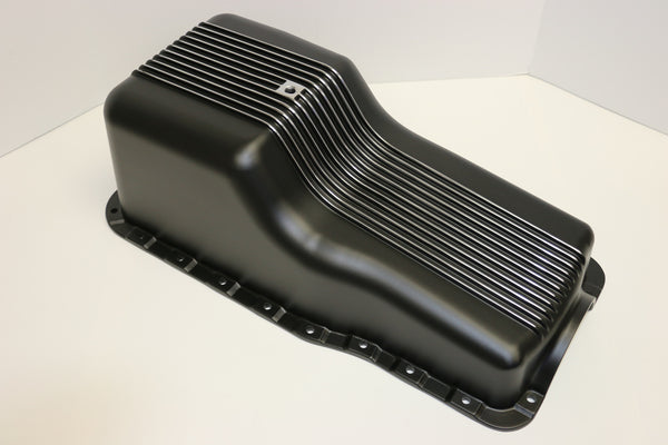 SB Ford Black Aluminum Oil Pan