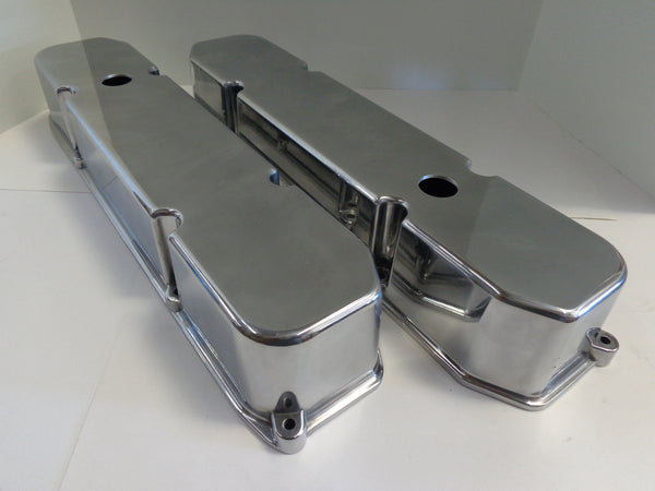 Big Block Mopar Smooth Polished Aluminum Valve Covers
