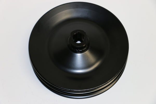 GM Black Double Groove Power Steering Pulley