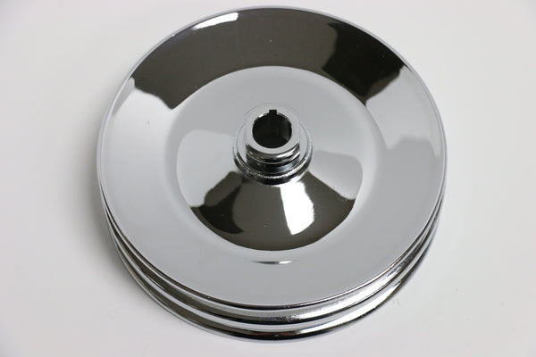 GM Chrome Double Groove Power Steering Pulley