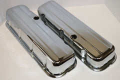 Big Block Chevy Chrome Steel Valve Covers - Tall