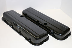 Big Block Chevy Black Steel Valve Covers - Short