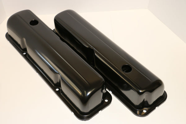 Ford FE Black Steel Valve Covers