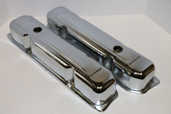 Big Block Mopar Chrome Steel Valve Covers - Tall