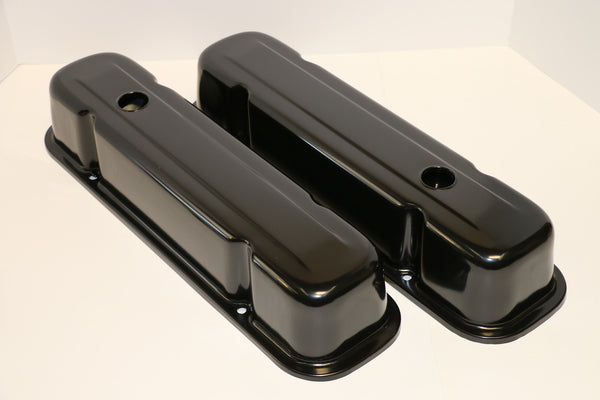 Pontiac Black Steel Valve Covers - Tall