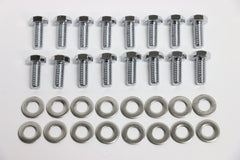 Ford C4 C6 AOD Chrome Transmission Pan Bolt Kit