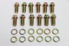 SB Chevy Zinc 6pt Header Bolt 12pc Kit