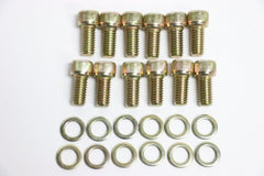 SB Chevy Zinc Allen Head Header Bolt 12pc Kit
