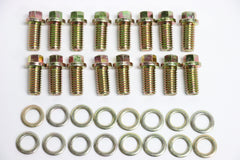 BB Chevy Zinc 6pt Header Bolt 16pc Kit