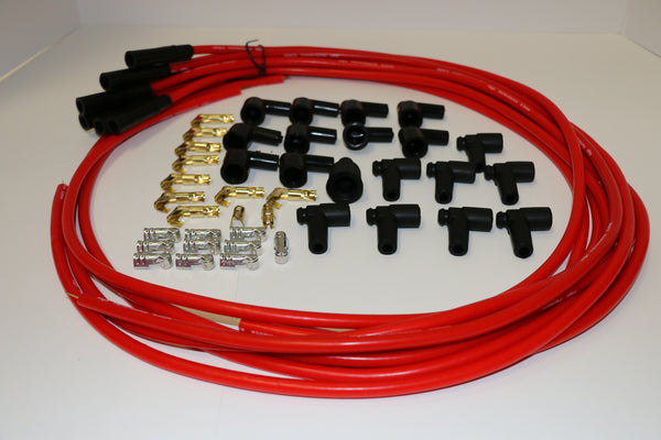 8.5mm Red Straight Universal Spark Plug Wire Set