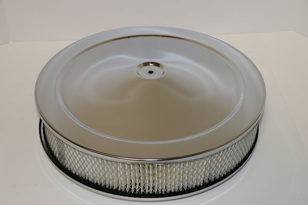 14 X 3 Chrome Air Cleaner Standard Base