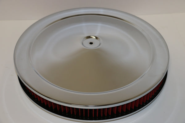 14 X 2 Chrome Air Cleaner Standard Base Washable