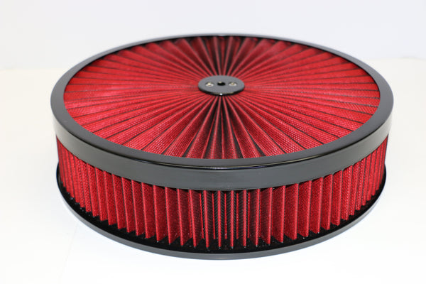 14 X 3 High Flow Air Cleaner Recessed Base Washable