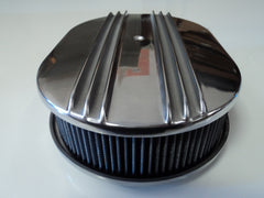 "12"" Half Finned Polished Aluminum Air Cleaner Washable"