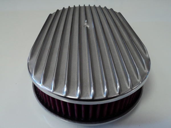 "15"" Full Finned Polished Aluminum Air Cleaner Washable"