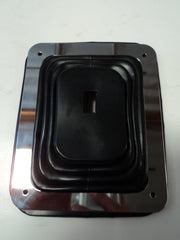 Rubber Shifter Boot With Chrome Plate