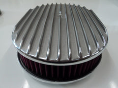 "12"" Full Finned Polished Aluminum Air Cleaner Washable"