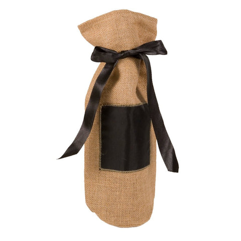 Burlap Chalkboard Wine Bag